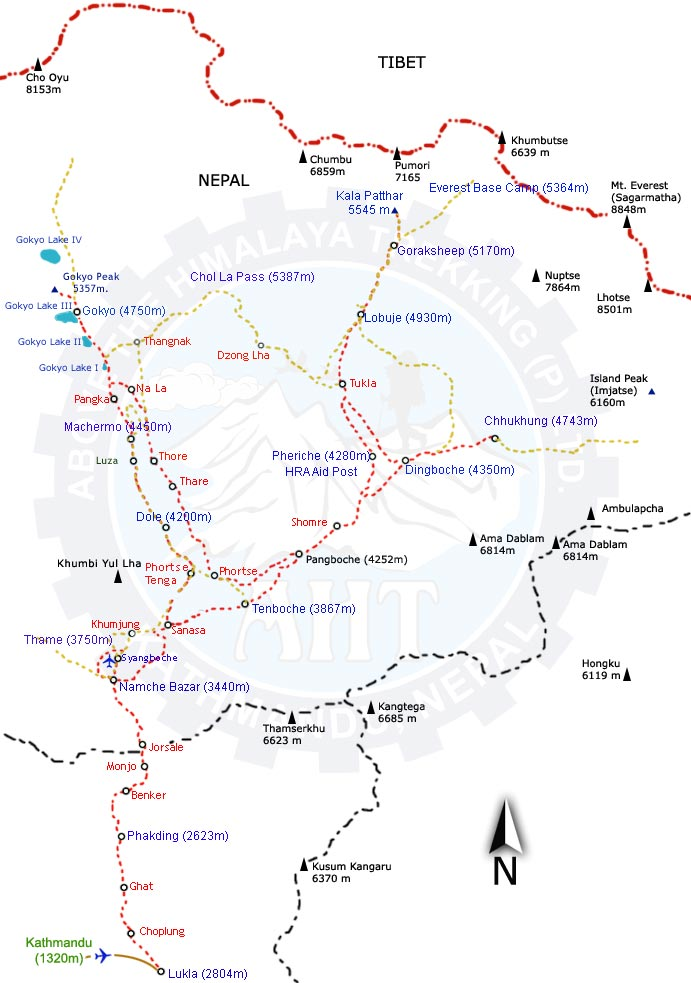 chola pass map