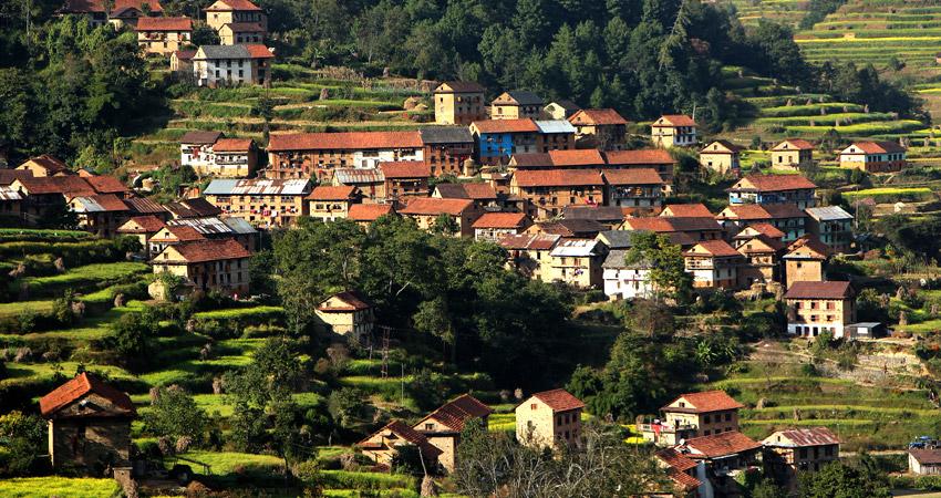 Nepal village trekking