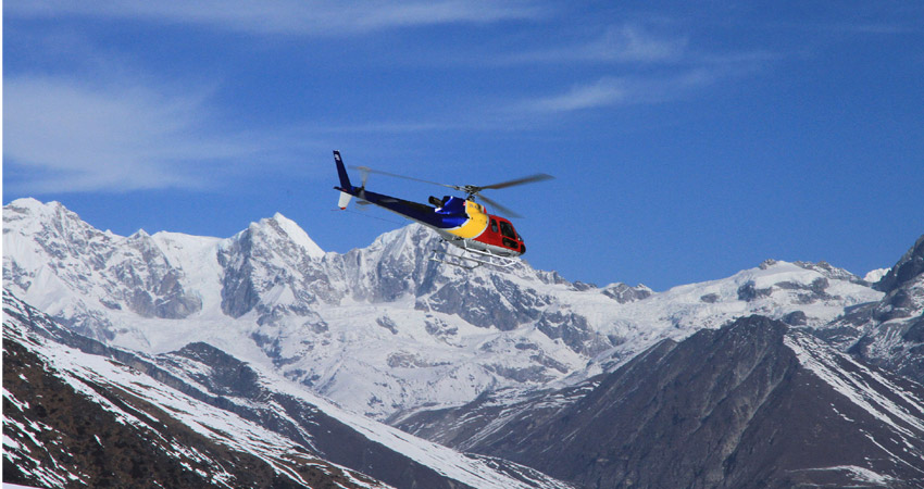 Annapurna base camp helicopter toru