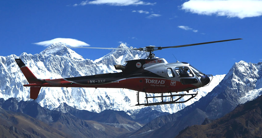 Everest base camp helicopter tourf