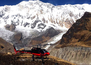 Annapurna base camp heli trek