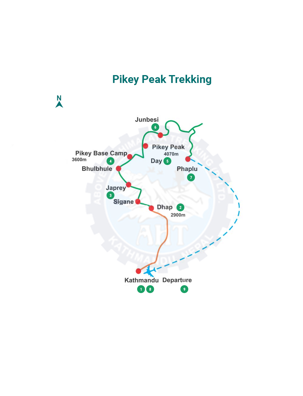 Pikey peak trek map