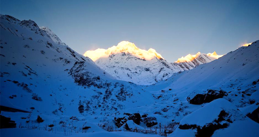 Annapurna base camp trek in December to February-winter